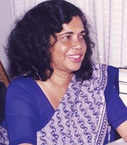 Ms. Priyanee Wijesekera The First Lady Secretary General of  the Parliment of Sri Lanka