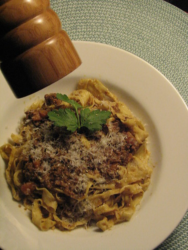 Authentic Homemade Tagliatelle Bolognese
