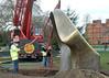 TheEnd - oval 2 & crane (chericbaker) Tags: sculpture kewgardens kew moore henrymoore mooreatkew