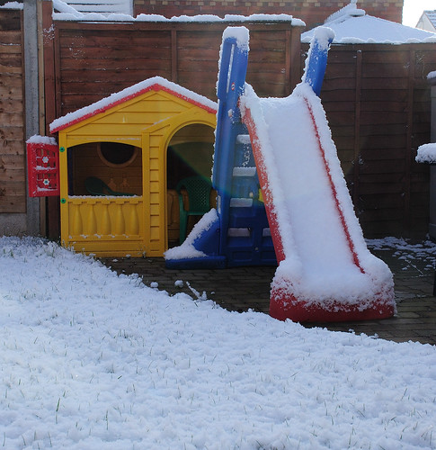 Snow covered slide