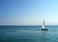 Calma piatta ( ILMARTINO ) Tags: blue sea sailboat boat spring sail jesolo flickrlovers