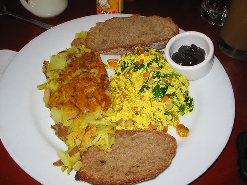 tofu scramble at herbivore
