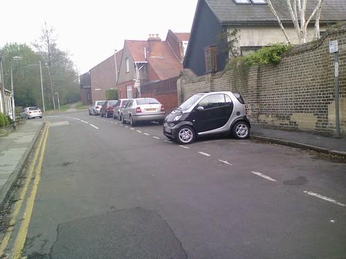 Smart Car parked in Cambridge side-street