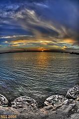 (N-S-S) Tags: sunset sea sun landscape kuwait   nasser doha         vwc        kvwc   alsolihem