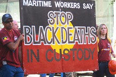 Maritime workers May Day March 2008 (fardod) Tags: justice union brisbane maritime aboriginal mayday 2008 racism labourday mwu socialjustice deathincustody stolenwages