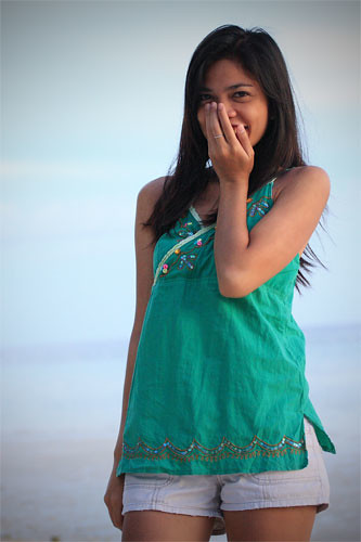 Blushing Asian Girl
