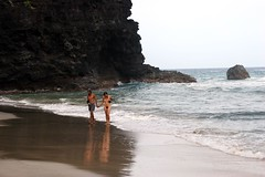 very secluded beach (Fire Horse Leo) Tags: ocean beach pool marriott hawaii coast hike na resort kauai pali kee jenniferwilliams jennybrogan