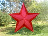 Red 5-pointed Star For Christmas Or Valentine's Day