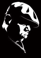 Biggie Art (Mel Marcelo) Tags: portrait blackandwhite face vectorart onecolor rap bling grafx biggie adobeillustrator melmarcelo meltendo mpyregraphics melitomarcelo