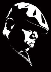 Biggie Art (Mel Marcelo) Tags: portrait blackandwhite face vectorart onecolor rap bling grafx biggie adobeillustrator melmarcelo meltendo mpyregraphics melitomarcelo