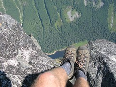 Best shoe shot-Barclay Lake 3,800 straight down