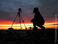 KAScott_20100410_8800_0795b (Ken Scott) Tags: usa selfportrait silhouette clouds sunrise rocks michigan shoreline lakemichigan greatlakes freshwater selfie westbay leelanau kenscott kenscottphotography kenscottphotographycom