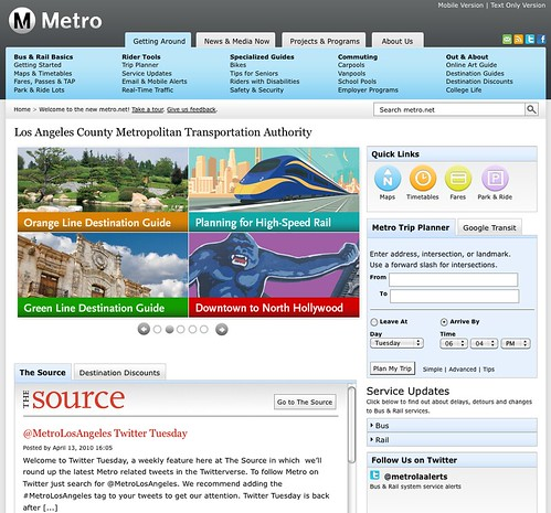Metro.net update April 2010