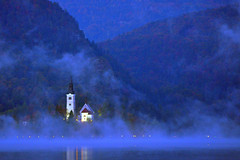 Misty Blue (Atilla2008) Tags: blue mist lake church misty atmosphere eerie spooky reflect slovenia bled bluehour lakebled jezero mygearandme mygearandmepremium mygearandmebronze mygearandmesilver mygearandmegold mygearandmeplatinum mygearandmediamond rememberthatmomentlevel4 rememberthatmomentlevel1 rememberthatmomentlevel2 rememberthatmomentlevel3