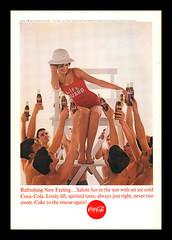 """Vintage Coca-Cola Ad, 1963 (Cosmo's """"ART"""" Gallery) Tags: vintage ad coke lifeguard cocacola softdrink 1963"""