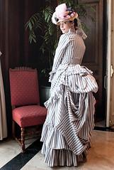 Tissot dress (Idzit) Tags: dress walk victorian parasol promenade stroll bustle tissot