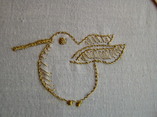 golden snitch embroidery