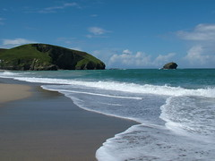 Portreath Beach (woodyofwelwyn) Tags: ocean sea seascape beach st harbor boat cornwall waves harbour atlantic coastline agnes cornish mevagissey portreath porthleven
