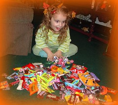 Look at all my candy!!!
