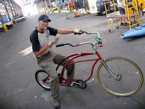 Build Chopper Bicycle http://rockthebike.com/how-to-build-a-chopper-bicycle-without-electricity/