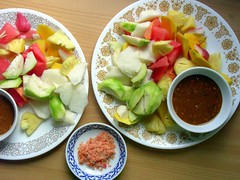 rujak (Satya W) Tags: food fruit sauce salt watermelon pineapple spicy 2007 rujak 200711