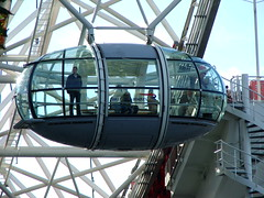 London Eye capsule (kalmanzita) Tags: uk england london wheel millenniumwheel britain sightseeing londoneye capsule landmark 1999 structure southbank waterloo britishairways lambeth spiralstaircase davidmarks jubileegardens windingstairs observationwheel londonboroughoflambeth juliabarfield malcolmcook marksparrowhawk stevenchilton nicbailey frankanatole