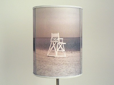 Beach Lifeguard Photo Lamp Shade