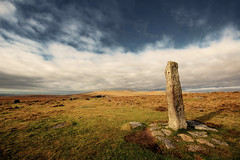 Still Standing (stevec77) Tags: sky grass stone clouds d50 rocks wideangle nikond50 moor dartmoor standingstone sigma1020 merrivale bbcopenlab taview