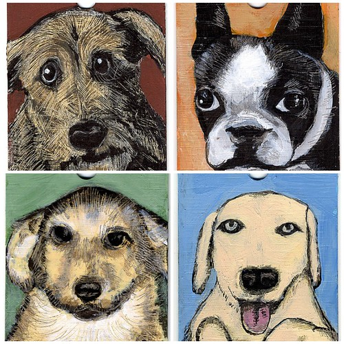 Miniature Dog Paintings