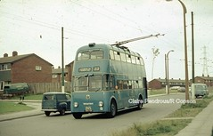 Walsall's 'Goldfish Bowls' (Lady Wulfrun) Tags: road ca bus buses electric vw austin concrete bedford goldfish traction bowl pole 1960s 1968 van sunbeam cavendish willowbrook stanton trolleybus gec a30 a35 trolleybuses bloxwich dioptrion