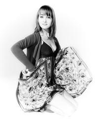 Salma? (sillythingsyoulaughabout) Tags: portrait woman girl beautiful studio summerdress salmahayeklookalike