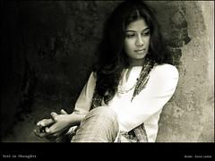 lost in thoughts (rkmenon) Tags: sonali portrait people india smile face fashion canon happy eos eyes trendy posture portfolio mumbai portaiture rkmenon goldstaraward sonalilambe