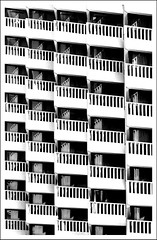 Le Meridien (Pneumococcus) Tags: sanfrancisco california windows bw abstract architecture reflections hotel balconies lemeridien