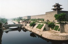 Xian City Wall, China (chris.bryant) Tags: china morning bridge trees summer sky reflection tower water wall architecture day xian relaxation soe cubism blueribbonwinner golddragon mywinners abigfave platinumphoto anawesomeshot impressedbeauty amazingamateur overtheexcellence betterthangood theperfectphotographer goldstaraward worldwidelandscapes anticando natureselegantshots flickrlovers vanagram panoramafotogrfico saariysqualitypictures