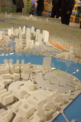Building Centre scale model of London: Canary Wharf & Millennium Dome