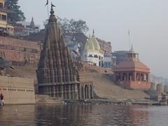 templo en el Ganges, Benarés
