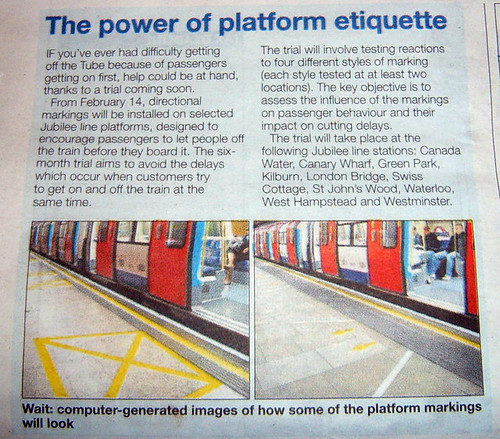 Tube Platform Etiquette Trials