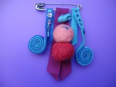 ESPIRALES AZULES-BOLAS ROSAS (el baul de  vartina) Tags: bolas rosas con azules espirales
