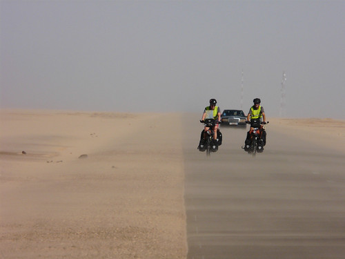 Biking in a duststorm