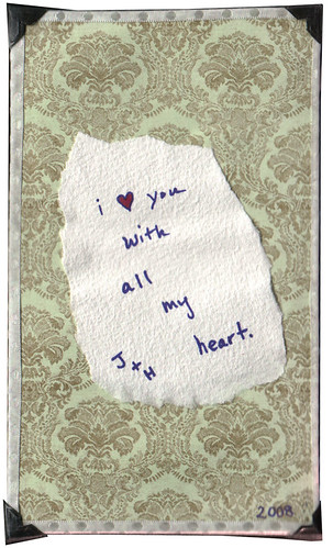 Valentine - Holly to Jeremiah (Back)