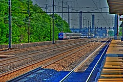 Here comes the train again.. (CBGB_Hoser) Tags: railroad digital train traintracks platform tracks nj railway trainstation transit rails digitalslr hdr unioncounty 70300 rahway merck tonemapped d80 qtpfsgui njtransitlinden