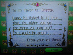 Animal Crossing:B-day letter