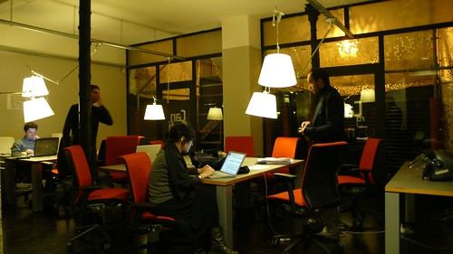 the coworking area
