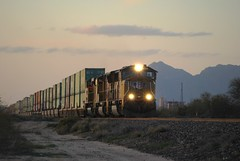 Eastbound at Red Rock, AZ (Saqib Karori - TucsonRailfan) Tags: railroad up tucson trains unionpacific locomotive marana sunsetroute