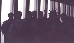 03 Kevin & Pledge Class in Tower (December 1992) (Kevin Borland) Tags: newyorkcity usa newyork unitedstates manhattan worldtradecenter northamerica northeast bigapple lowermanhattan manhattanisland newyorkcounty northeasternunitedstates newyorkmetropolitanarea newyorknorthernnewjerseylongislandnynjpametropolitanstatisticalarea