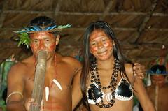 Dancing Desana Duo (Mondmann) Tags: travel brazil music tourism brasil dance amazon village performance culture nikond50 indians indigenous amazonas amazonia ecotourism desana diaadiabrasileiro