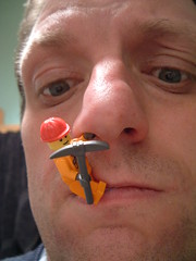03/03/2008 (Day 2.63) - A Good Pick (Kaptain Kobold) Tags: orange selfportrait macro face alan mouth nose lego armslength explore 365 minifig pick stubble workman bbb day263 pickr kaptainkobold fgr 365days interestingness165 yourfave i500 365monday 365more 365year2 3650308