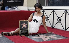 Angela Bassett star on  hollywood walk of fame