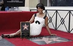 Angela Bassett star on  hollywood walk of fame