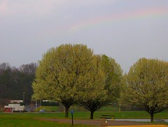 Rainbow over information center